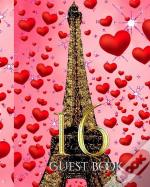 16  Party Paris Themed  Blank Gueat Book