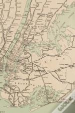 1921 Freight Map Of The Metropolitan District Of New York And Its Vicinity