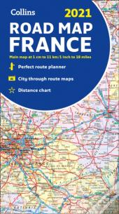 2021 Collins Map Of France