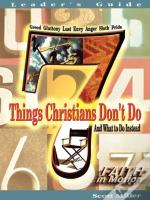 7 Things Christians Don'T Do - Leader