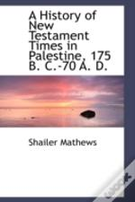 A History Of New Testament Times In Pale