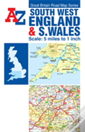 A-Z Sw England & S Wales Road Map