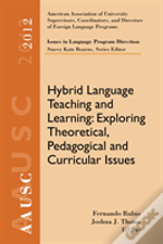 Aausc 2012 Volume: Issues In Language Program Direction Hybrid