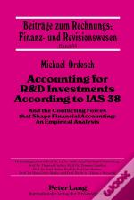Accounting For R&D Investments According To Ias 38