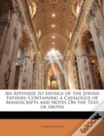 An Appendix To Sayings Of The Jewish Fat