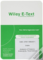 Analysis Of Financial Statements Wiley E-Text Card