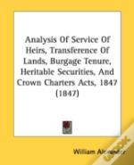 Analysis Of Service Of Heirs, Transferen