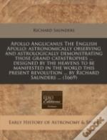 Apollo Anglicanus The English Apollo: As
