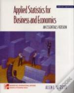Applied Statistics For Business & Economicswith Data Disk
