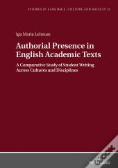Authorial Presence In English Academic Texts