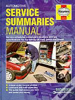 Automotive Service Summaries And Specifications Manual