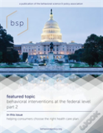 Behavioral Science & Policy, Volume 3, Number 1