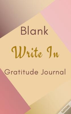 Wook.pt - Blank Write In Gratitude Journal (Gold Brown Pink Abstract Art Cover)