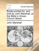 Books Printed For, And Sold By John Mars