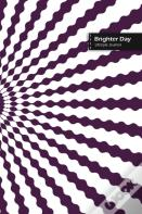 Brighter Day Lifestyle Journal, Blank Write-In Notebook, Dotted Lines, Wide Ruled, Size (A5) 6 X 9 In (Purple)