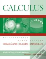 Calculusstudent Solutions Manual