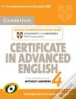 Cambridge Certificate In Advanced Englis