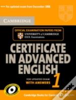 Cambridge Certificate In Advanced English 1 For Updated Exam Self-Study Pack