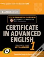 Cambridge Certificate In Advanced English 1 For Updated Exam Student'S Book With Answers