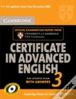 Cambridge Certificate In Advanced English 3 For Updated Exam Self-Study Pack (Student'S Book With Answers And Audio Cds (2))