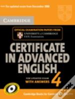 Cambridge Certificate In Advanced English 4 For Updated Exam Self-Study Pack (Student'S Book With Answers And Audio Cds (2))