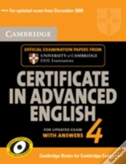 Wook.pt - Cambridge Certificate In Advanced English 4 For Updated Exam Self-Study Pack (Student'S Book With Answers And Audio Cds (2))