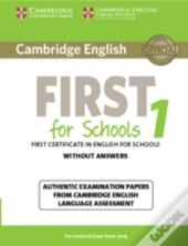 Cambridge English First 1 For Schools For Revised Exam From 2015 Student'S Book Without Answers