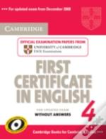 Cambridge First Certificate In English 4