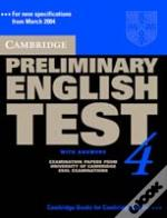 Cambridge Preliminary English Test 4 Self-Study Pack