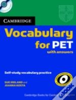 Cambridge Vocabulary For Pet Edition With Answers And Audio Cd