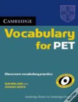 Wook.pt - Cambridge Vocabulary For Pet Edition Without Answers
