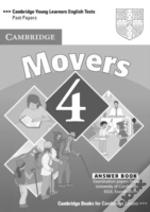 Cambridge Young Learners English Tests Movers 4 Answer Booklet