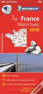 Carte Nationale 706 France Nord-Ouest 2018
