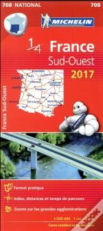 Carte Nationale 708 France Sud-Ouest 2017