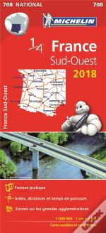 Carte Nationale 708 France Sud-Ouest 2018