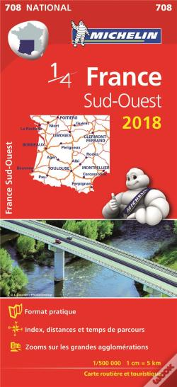 Wook.pt - Carte Nationale 708 France Sud-Ouest 2018