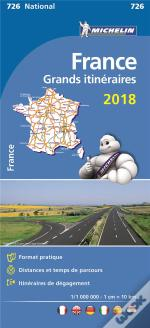 Carte Nationale 726 France Grand Itineraires 2018