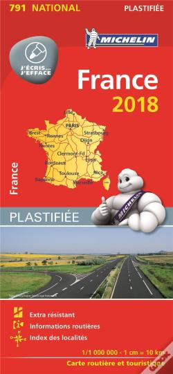 Wook.pt - Carte Nationale 791 France 2018 - Plastifiee