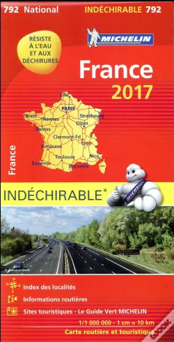 Wook.pt - Carte Nationale 792 France 2017 - Indechirable
