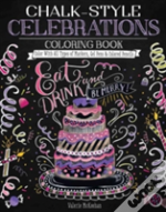 Chalk Style Celebrations Coloring Book