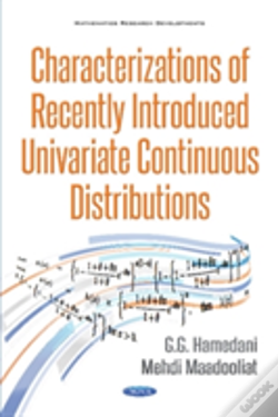 Wook.pt - Characterizations Of Recently Introduced Univariate Continuous Distributions