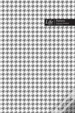 Checkered Ii Pattern Composition Notebook, Dotted Lines, Wide Ruled Medium Size 6 X 9 Inch, 144 Sheet (A5) Gray Cover