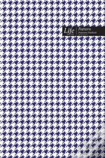 Checkered Ii Pattern Composition Notebook, Dotted Lines, Wide Ruled Medium Size 6 X 9 Inch (A5), 144 Sheets Navy Cover