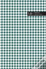 Checkered Ii Pattern Composition Notebook, Dotted Lines, Wide Ruled Medium Size 6 X 9 Inch (A5), 144 Sheets Olive Cover