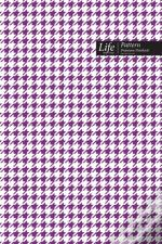Checkered Ii Pattern Composition Notebook, Dotted Lines, Wide Ruled Medium Size 6 X 9 Inch (A5), 144 Sheets Purplecover