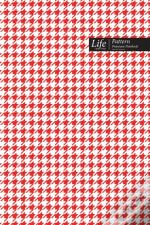 Checkered Ii Pattern Composition Notebook, Dotted Lines, Wide Ruled Medium Size 6 X 9 Inch (A5), 144 Sheets Red Cover
