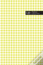 Checkered Ii Pattern Composition Notebook, Dotted Lines, Wide Ruled Medium Size 6 X 9 Inch (A5), 144 Sheets Yellowcover