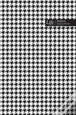 Checkered Ii Pattern Composition Notebook, Dotted Lines, Wide Ruled Medium Size 6 X 9 Inch (A5)  Black Cover