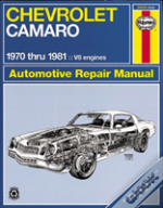 Chevrolet Camaro V-8, 1970-81 Owner'S Workshop Manual