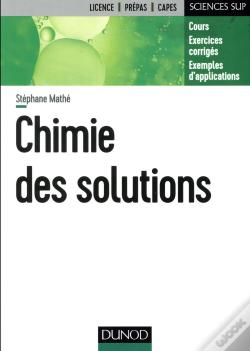 Wook.pt - Chimie Des Solutions